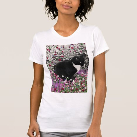 Freckles in Flowers II - Tux Kitty Cat T-Shirt