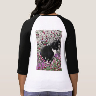 Freckles in Flowers II - Tux Kitty Cat Tee Shirt