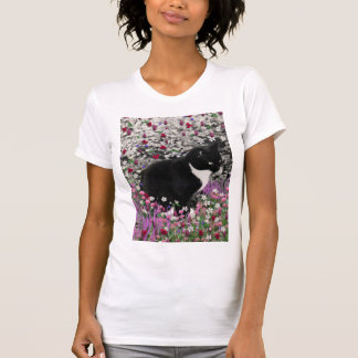 Freckles in Flowers II - Tux Kitty Cat T-shirts