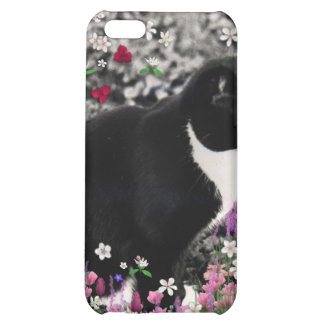 Freckles in Flowers II - Tuxedo Cat Cover For iPhone 5C