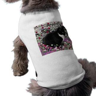 Freckles in Flowers II - Tuxedo Cat T-Shirt