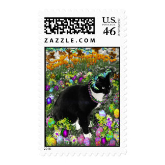 Freckles in the Hunt for Colored Easter Eggs Postage Stamp