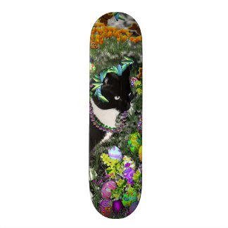Freckles in the Hunt for Colored Easter Eggs Skateboard Deck