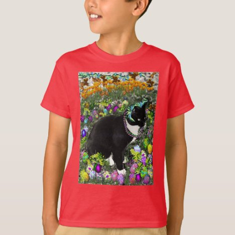 Freckles in the Hunt for Colored Easter Eggs T-Shirt