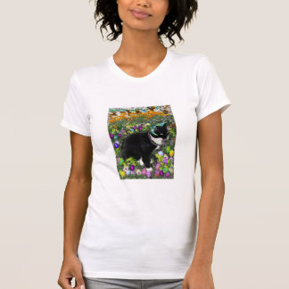 Freckles in the Hunt for Colored Easter Eggs Tee Shirts
