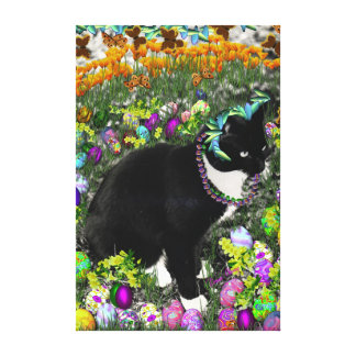 Freckles in the Hunt for Easter Eggs Canvas Print