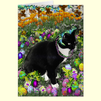 Freckles in the Hunt for Easter Eggs Cards