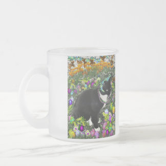 Freckles in the Hunt for Easter Eggs Frosted Glass Coffee Mug