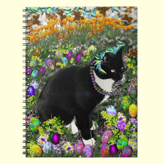 Freckles in the Hunt for Easter Eggs Spiral Note Book