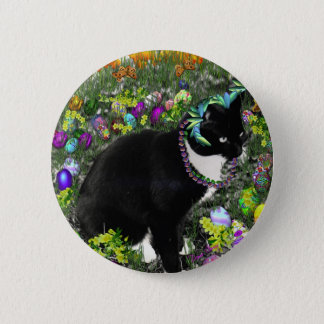 Freckles in the Hunt for Easter Eggs Pinback Button
