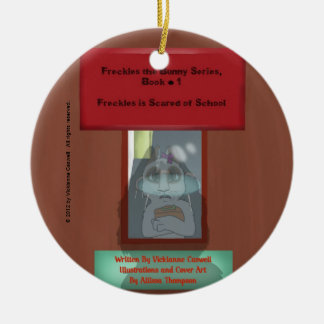 Freckles is Scared of School Round Ornament