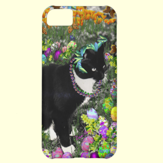 Freckles, Tux Cat, in the Hunt for Easter Eggs iPhone 5C Cases