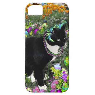 Freckles, Tux Cat, in the Hunt for Easter Eggs iPhone 5 Cases