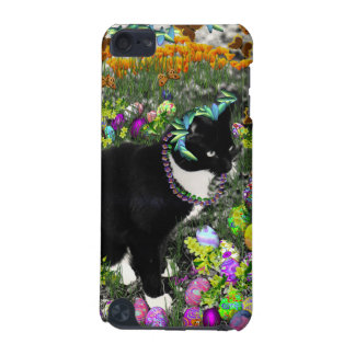 Freckles, Tux Cat, in the Hunt for Easter Eggs iPod Touch (5th Generation) Cases