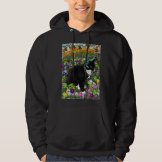 Freckles, Tux Cat, in the Hunt for Easter Eggs Hoodie