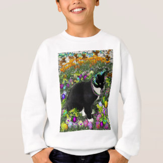 Freckles, Tux Cat, in the Hunt for Easter Eggs Sweatshirt