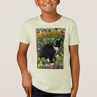 Freckles, Tux Cat, in the Hunt for Easter Eggs T-Shirt