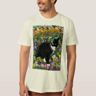 Freckles, Tux Cat, in the Hunt for Easter Eggs Tee Shirts
