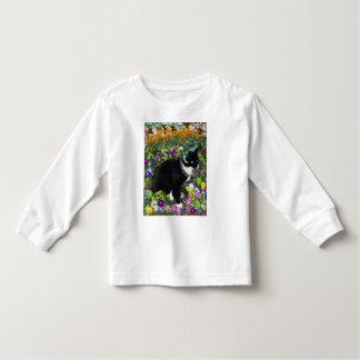 Freckles, Tux Cat, in the Hunt for Easter Eggs Toddler T-shirt