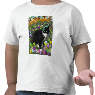 Freckles Tux Cat in the Hunt for Easter Eggs T Shirts