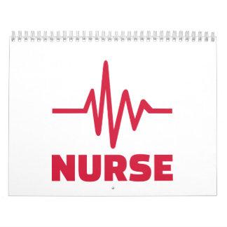 Frecuencia de la enfermera calendarios de pared