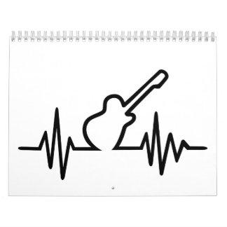 Frecuencia de la guitarra eléctrica calendario de pared