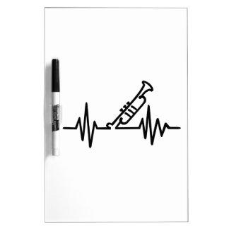 Frecuencia de la trompeta pizarras blancas de calidad