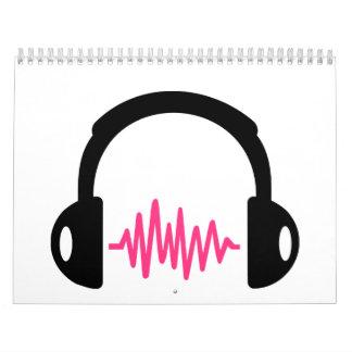 Frecuencia de los auriculares calendario de pared