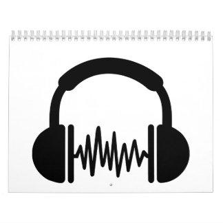 Frecuencia DJ de los auriculares Calendario