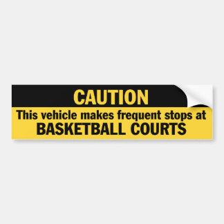 Frecuente las paradas el baloncesto etiqueta de parachoque