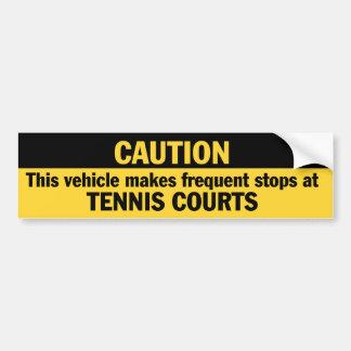 Frecuente las paradas (el tenis) pegatina para auto