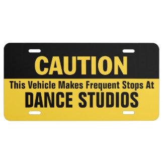 Frecuente las paradas en el estudio de la danza placa de matrícula