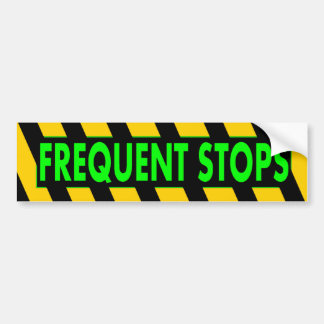 Frecuente las paradas pegatina para auto