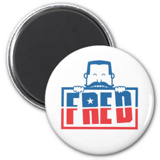 FRED 2 INCH ROUND MAGNET