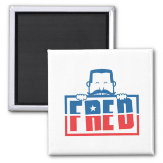 FRED 2 INCH SQUARE MAGNET