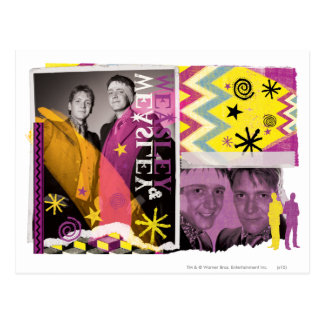 Fred and George Weasley Post Card