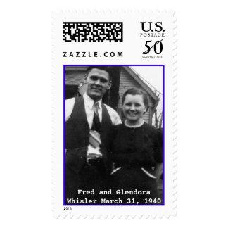 Fred and Glendora Whisler Postage