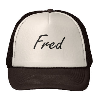 Fred Artistic Name Design Trucker Hat