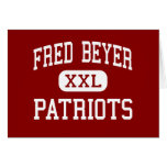 Fred Beyer - Patriots - High - Modesto California Greeting Cards