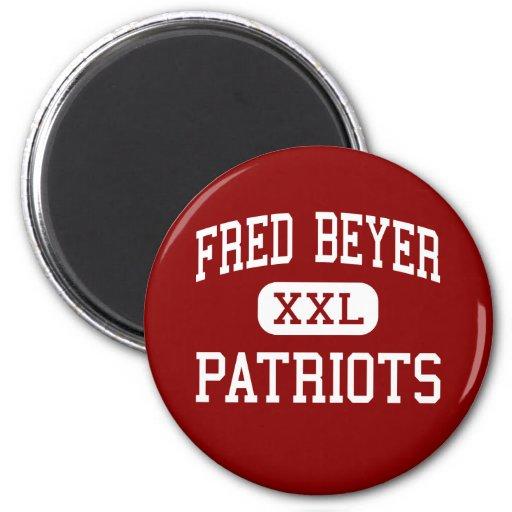 Fred Beyer - Patriots - High - Modesto California Fridge Magnet