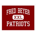 Fred Beyer - Patriots - High - Modesto California Postcard