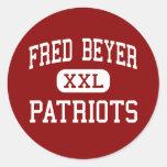 Fred Beyer - Patriots - High - Modesto California Stickers