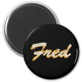 Fred Bling 2 Inch Round Magnet