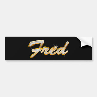 Fred Bling Bumper Sticker