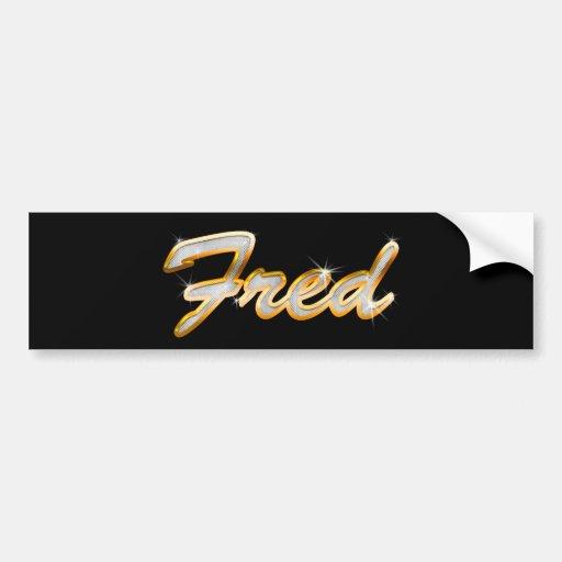 Fred Bling Car Bumper Sticker