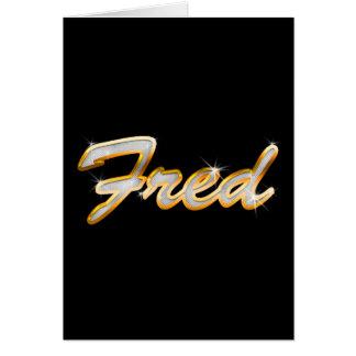 Fred Bling Tarjeta De Felicitación