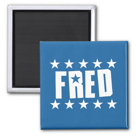 Fred Button 1 2 Inch Square Magnet