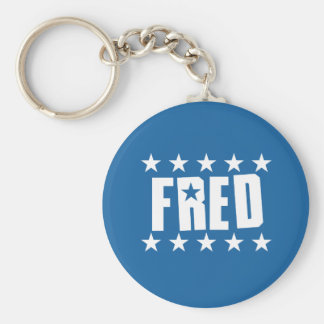 Fred Button 1 Keychain