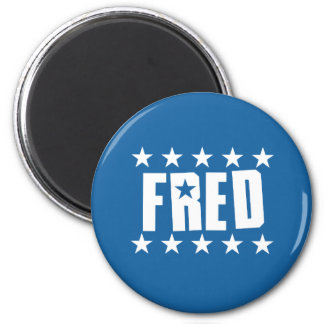 Fred Button 1 Fridge Magnets