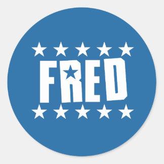 Fred Button 1 Round Sticker